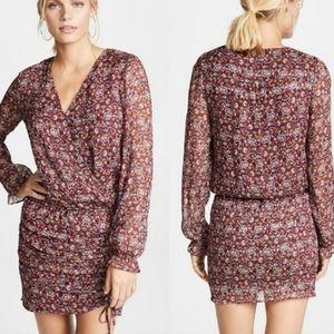 NWT Ramy Brook L Vina Paisley Silk Mini Dress